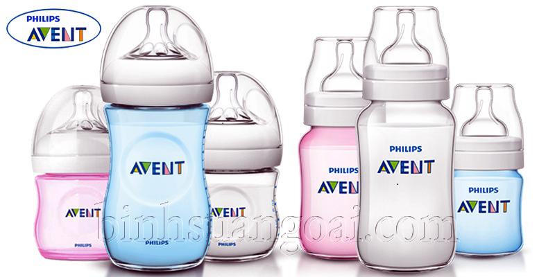 công dụng bình sữa Avent