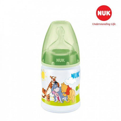 Bình sữa NUK PP 150ml bé 0-6 tháng Disney Xanh lá