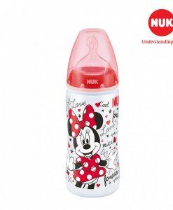 Bình sữa NUK PP 300ml bé >6 tháng Disney Black
