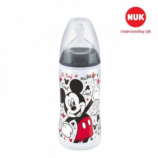 Bình sữa NUK PP 300ml bé >6 tháng Disney Red